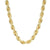 925 Sterling Silver Rope Necklace 14k Gold Finish Iced Out 24