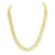 Gold Miami Cuban Necklace Sterling Silver 925 8 MM Simulated Diamonds