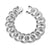 Miami Cuban Bracelet Mens Sterling Silver White Gold Tone