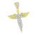 2 Tone Angel Pendant 925 Silver Canary White Lab Create Diamond