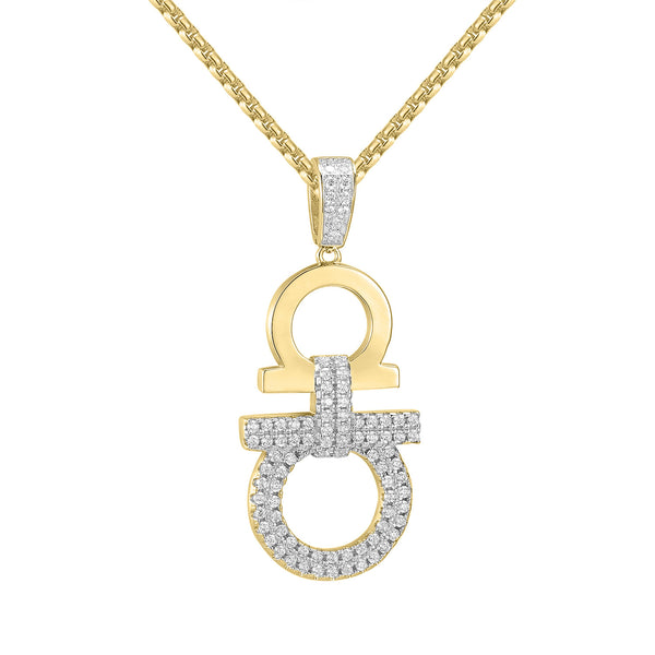 Hip Hop Designer Iced Out AA Pendant 14k Gold Finish with free 24