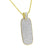 Mens Skateboard Pendant Necklace Gold Over Sterling Silver