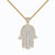 Solitaire Hamsa Hand Pendant Matching Cluster Stud Earrings Free 24