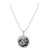 Sterling Silver Floating Stones Pendant Round White Gold Tone