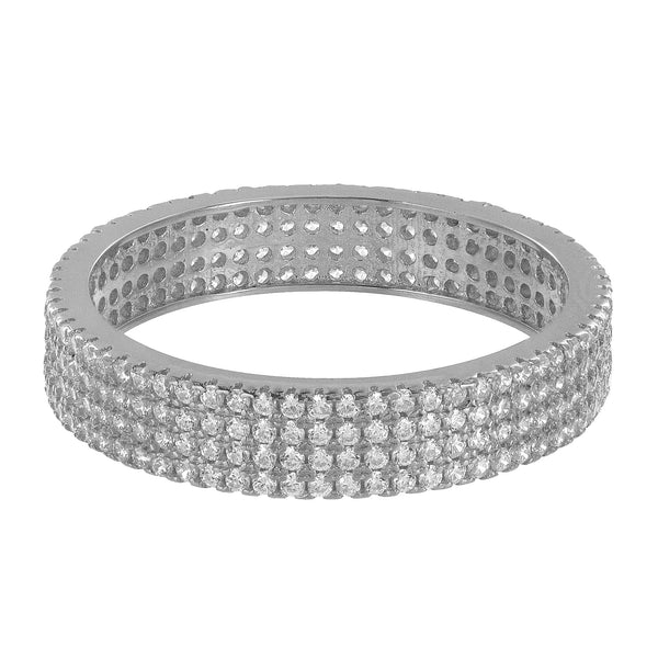 Mens Engagement Wedding Ring Band Simulated Diamonds