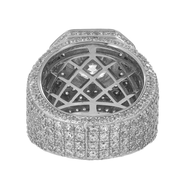 Mens Designer Ring Simulated Diamonds Solitaire Round Cut