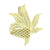 2 Tone Marijuana Weed Leaf Pendant 14K Gold Over Sterling Silver Lab Created Diamonds