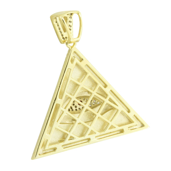 Evil Eye Pyramid Pendant