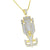 Sports Race Car Pendant Gold Over Sterling Silver