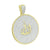 New Round Allah Medallion Pendant 14K Gold Over Sterling Silver Lab Created Diamonds