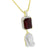 Garnet Ruby Praying Hands Pendant Gold On 925 Silver
