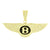 Luxury Car Logo Pendant Gold Tone Lab Diamonds