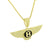 Luxury Car Logo Pendant Chain Gold On Sterling Silver Yellow