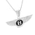Luxury Car Logo Pendant White Gold On 925 Silver Moon Chain