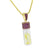 Canary Floating Stones Pendant Purple 925 Silver