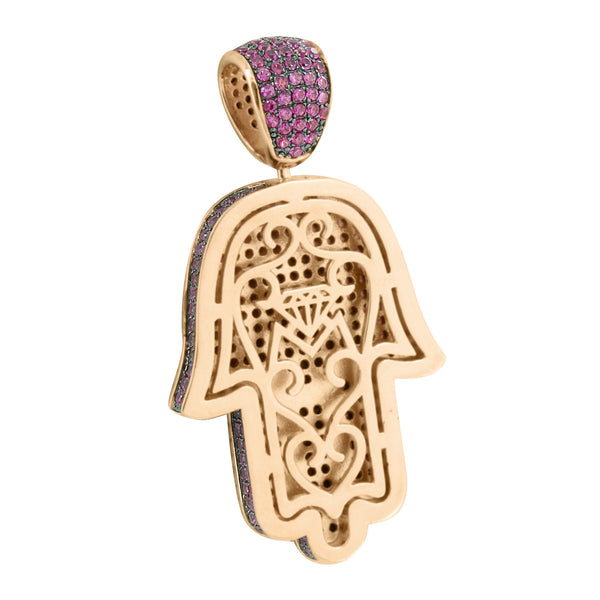 Hamsa Pendant Rose Gold Over Sterling Silver