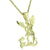 Men's Stylish Design Angel with Dragon Pendant Featured With Stainless Steel Box Chain