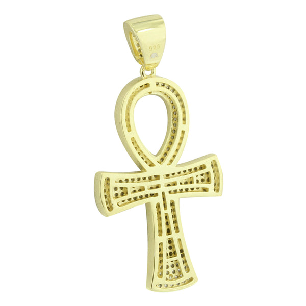 Sterling Silver Ankh Cross Pendant Religious
