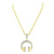 Headphones Design Pendant 14k Gold Over Sterling Silver