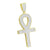 Gold Finish Religious Ankh Cross Pendant