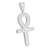 White Finish Ankh Cross Pendant