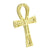 New Ankh Cross Sterling Silver Pendant 14K Gold Finish