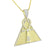 Pyramid Ankh Cross Pendant Chain Gold Finish Sterling Silver