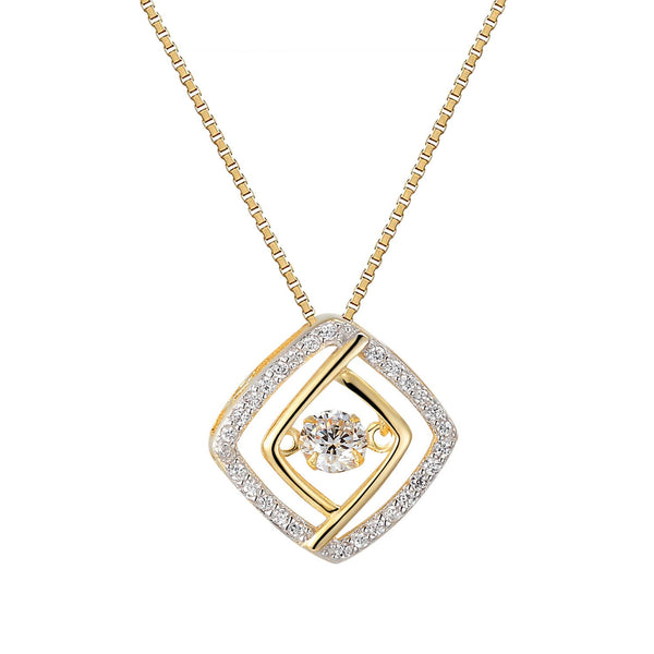 Round Dazzling Solitaire Cushion Cut Silver Pendant Free Necklace