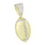 Sports Football Pendant Lab Created Diamond Yellow Gold Over Sterling Silver