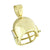 Sterling Silver Men's 3DFootball Player Helmet Pendant