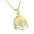 Football Player Helmet Pendant Chain 14k Gold On 925 Silver