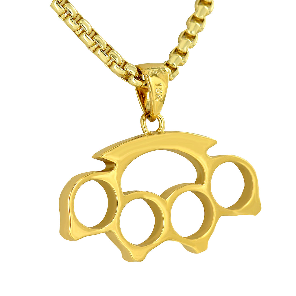 V01g 003 18konbrasscharm 3734 11inx13in53gm boxchain 3mm24in159gm sp 21024x1024gv1460223962 brass knuckles pendant 18k yellow gold plate men unique style w free box chain aloadofball Image collections