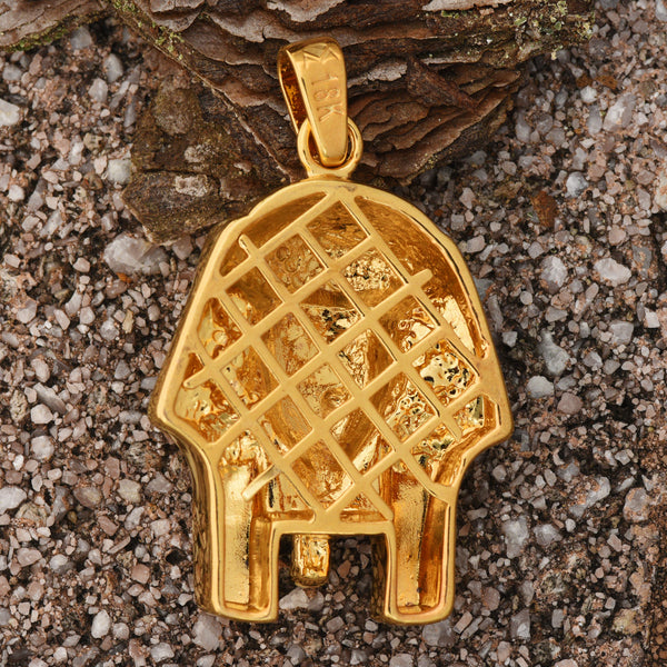 Egyptian Pharaoh Pendant 18K Gold Finish Brand New Charm