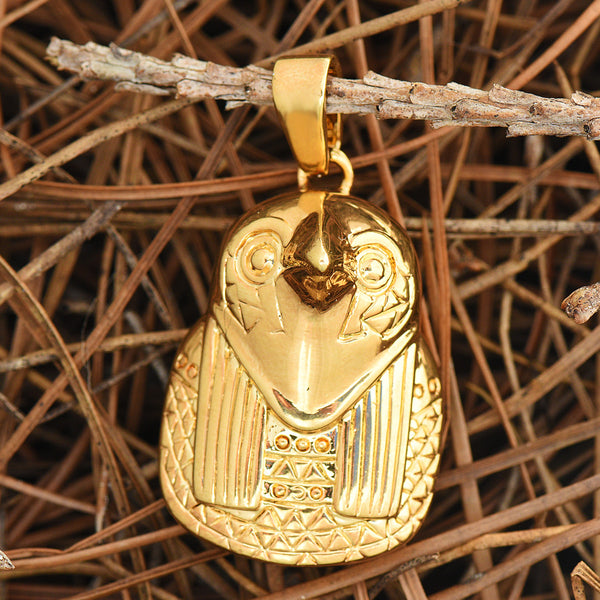 Egyptian Horus Pendant Son Of God 18K Gold