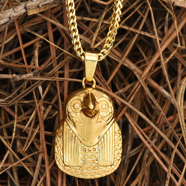 Horus Pendant 18k Gold Tone Egyptian Son Of God Free Necklace Set