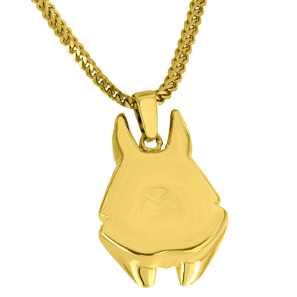 God Of Underworld Pendant Anubis Free Stainless Steel Franco Chain
