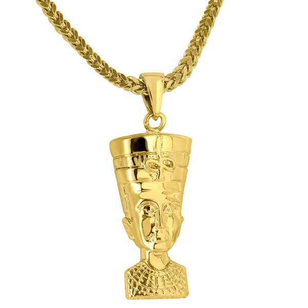 Nefertiti Eqgyptian Queen Pendant Free Stainless Steel 24