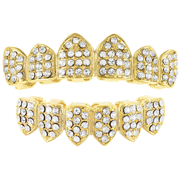 Men's Iced Out Designer Crown Style Grillz Set