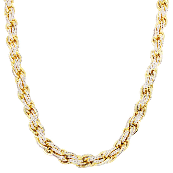 Iced out Custom Rope Necklace Chain