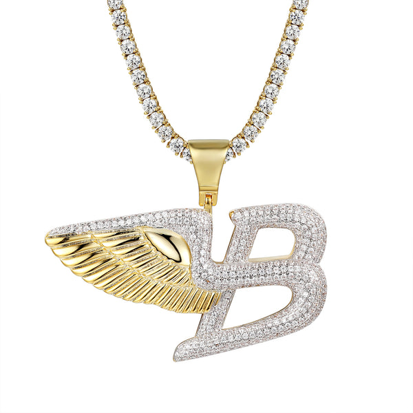 Flying Angel Wings Luxury Car Logo Pendant Necklace
