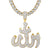 Sterling Silver Religious Allah God Arabic Pendant Chain