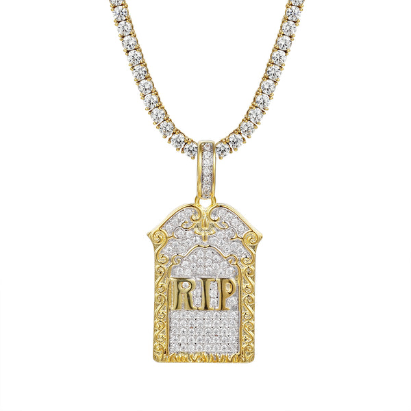 Rest In Peace Grave Tombstone Charm Pendant 24