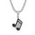 Iced Out Music Note Melody Charm Pendant Chain