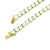 Stainless Steel Tennis Necklace Round Cut Lab Diamonds 4 MM Mens Gold Tone 30 IN