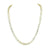 Gold Tone Tennis Necklace 1 Row Solitaire Link Chain Stainless Steel 36