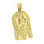 Stainless Steel Jesus Pendant Yellow Gold Finish With Chain