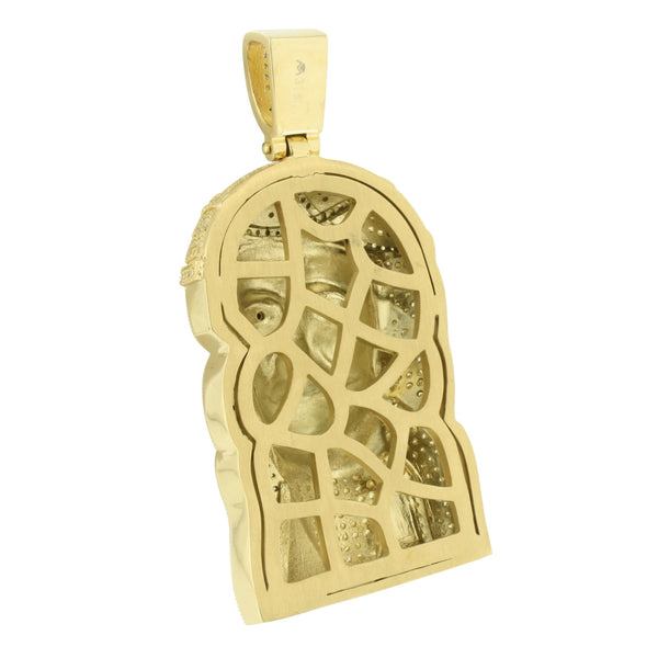Stainless Steel Jesus Pendant Yellow Gold Finish