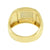 Stainless Steel Mens Ring Simulated Diamonds Gold Finish Wedding Engagement Sale