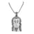 Black Lab Diamond Jesus Christ Pendant Stainless Steel With Chain