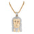 Rose Gold Finish Jesus Pendant Solid Stainless Steel With Chain
